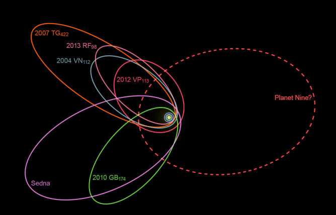 Effects of the hypothetical Planet Nine on the orbits of trans-Neptunian objecys