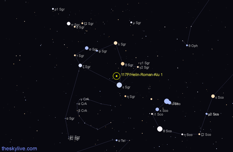 117P/Helin-Roman-Alu 1 in Gemini on July,20 2018