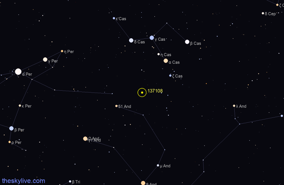 Map of 137108 in Cepheus on December,13 2019