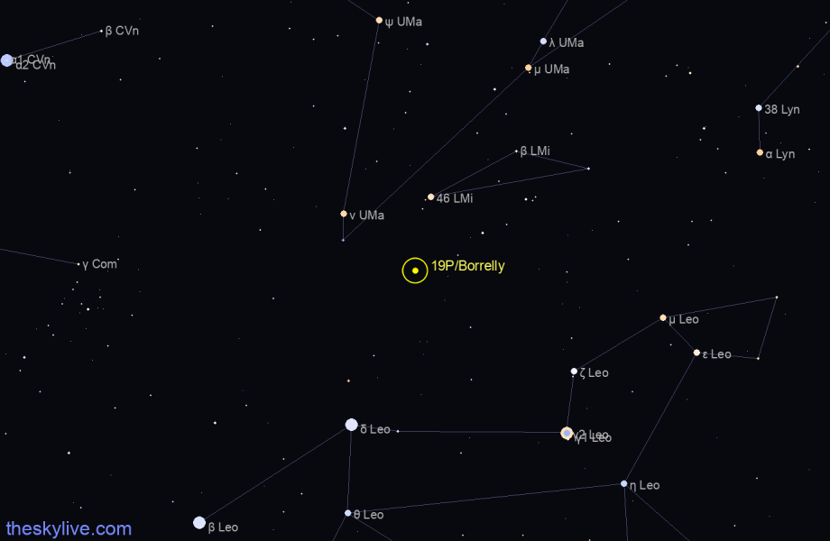 19P/Borrelly in Ophiucus on December,15 2018