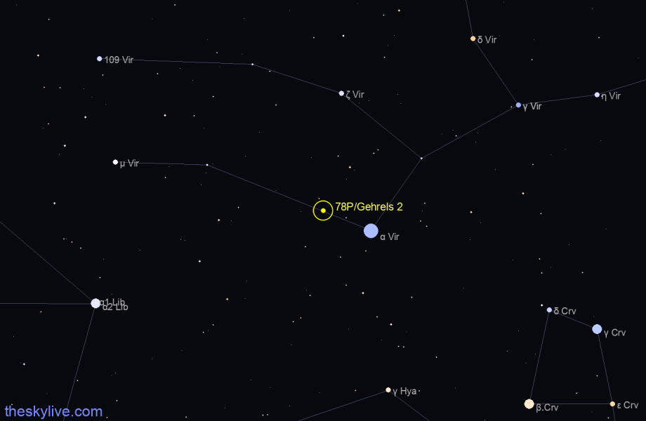 78P/Gehrels 2 in Aquarius on December,12 2018