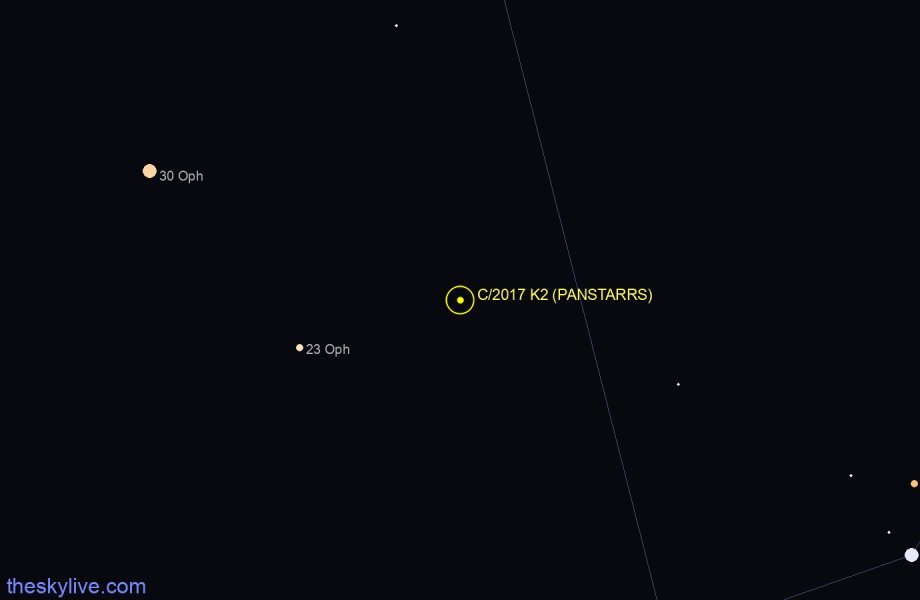 Finder chart of C/2017 K2 (PANSTARRS)