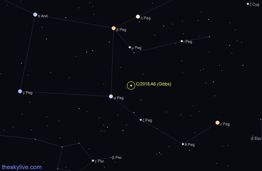 C/2018 A6 (Gibbs) in Leo on March,18 2018