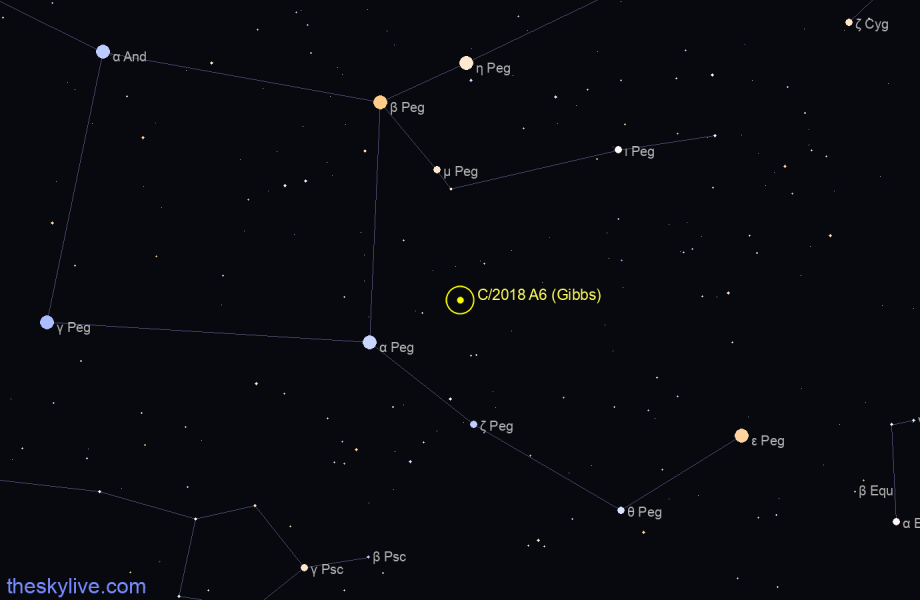 C/2018 A6 (Gibbs) in Sextans on June,25 2018