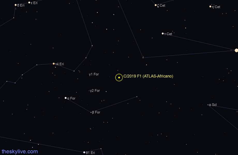 Map of C/2019 F1 in Libra on December,05 2019