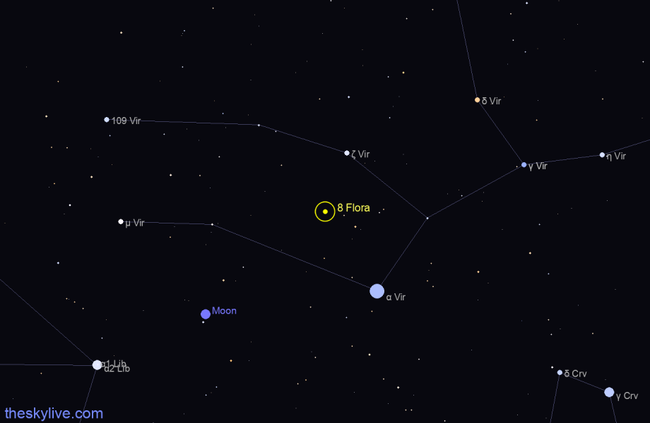 Map of 8 Flora in Libra on June,17 2019