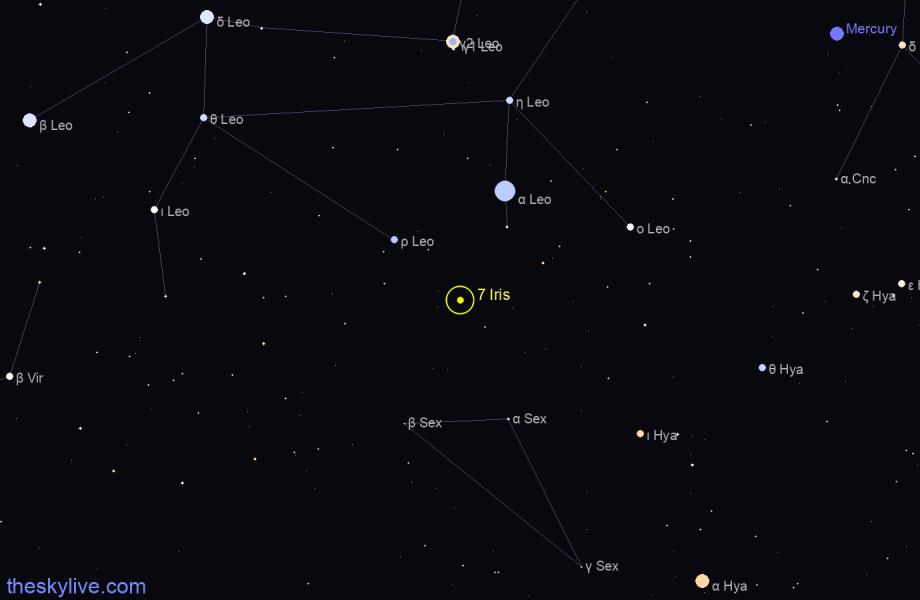 Map of 7 Iris in  on January,29 2020
