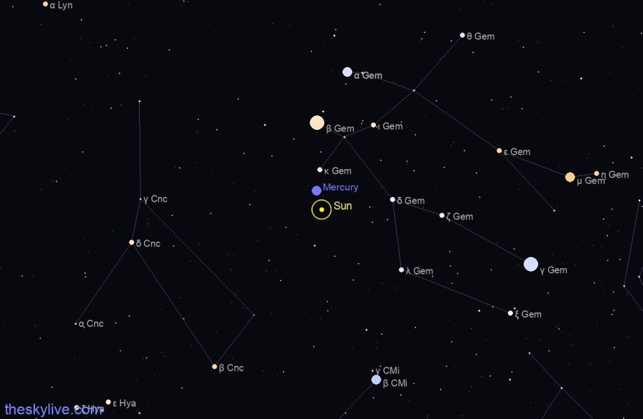Map of Sun in Leo on August,21 2019