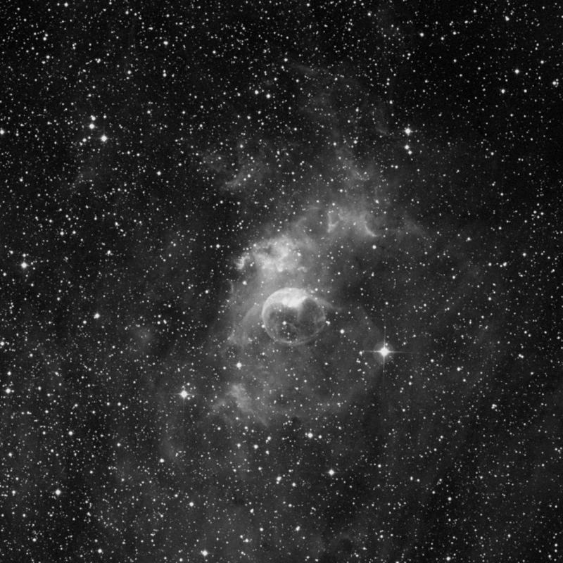 Image of NGC 7635 (Bubble Nebula) - HII Ionized region in Cassiopeia star
