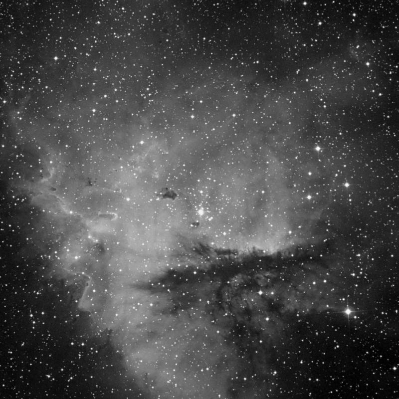 Image of IC 1590 - Star Cluster + Nebula in Cassiopeia star