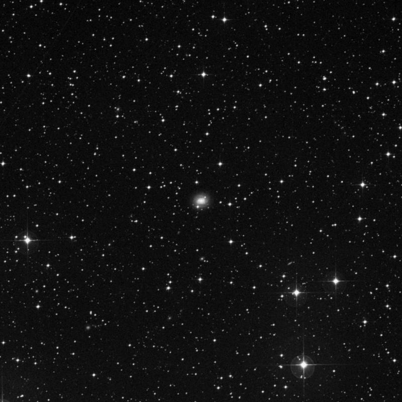 Image of IC 2158 - Barred Spiral Galaxy in Columba star