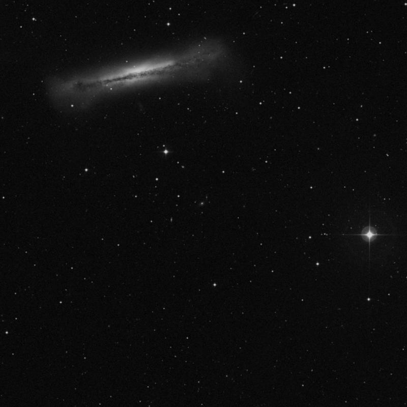 Image of IC 2725 - Elliptical Galaxy in Leo star