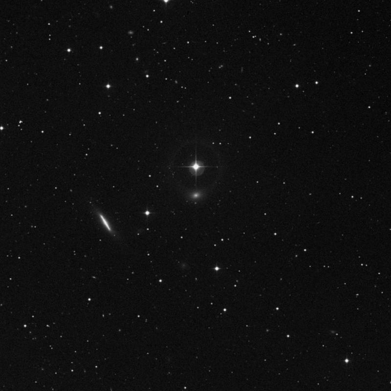 Image of IC 3381 - Elliptical Galaxy in Virgo star