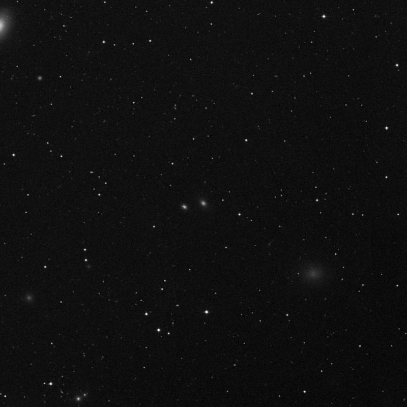 Image of IC 3486 - Elliptical Galaxy in Virgo star