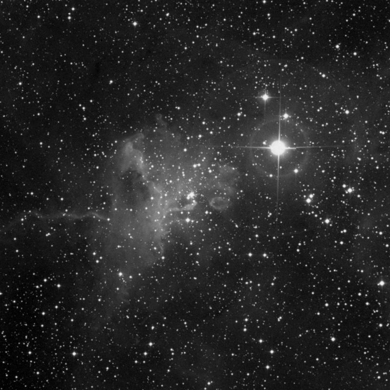 Image of IC 417 - HII Ionized region star
