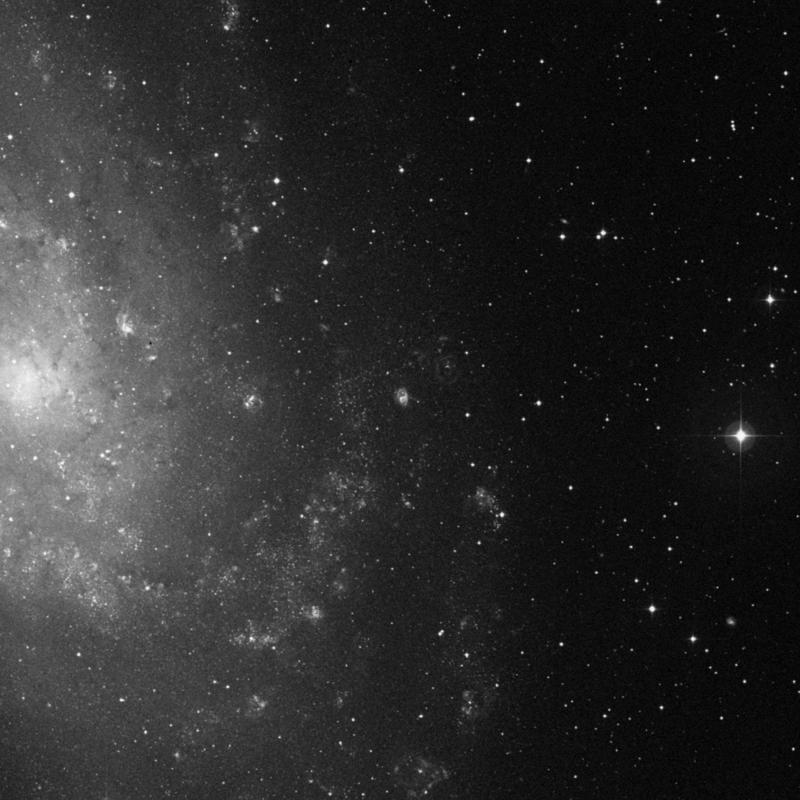 Image of NGC 588 - HII Ionized region in Triangulum star