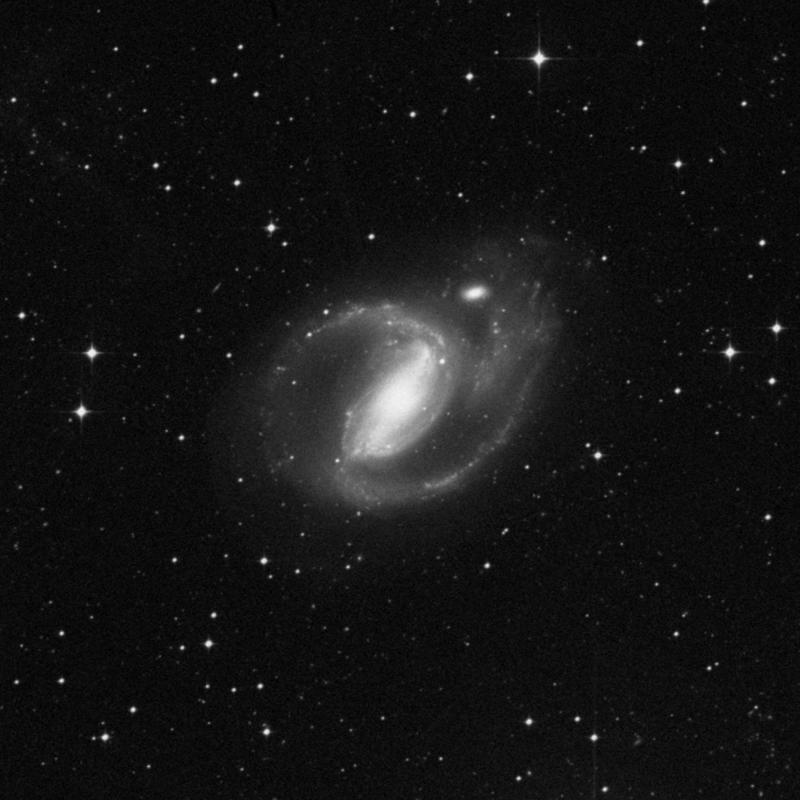 Image of NGC 1097 - Barred Spiral Galaxy in Fornax star