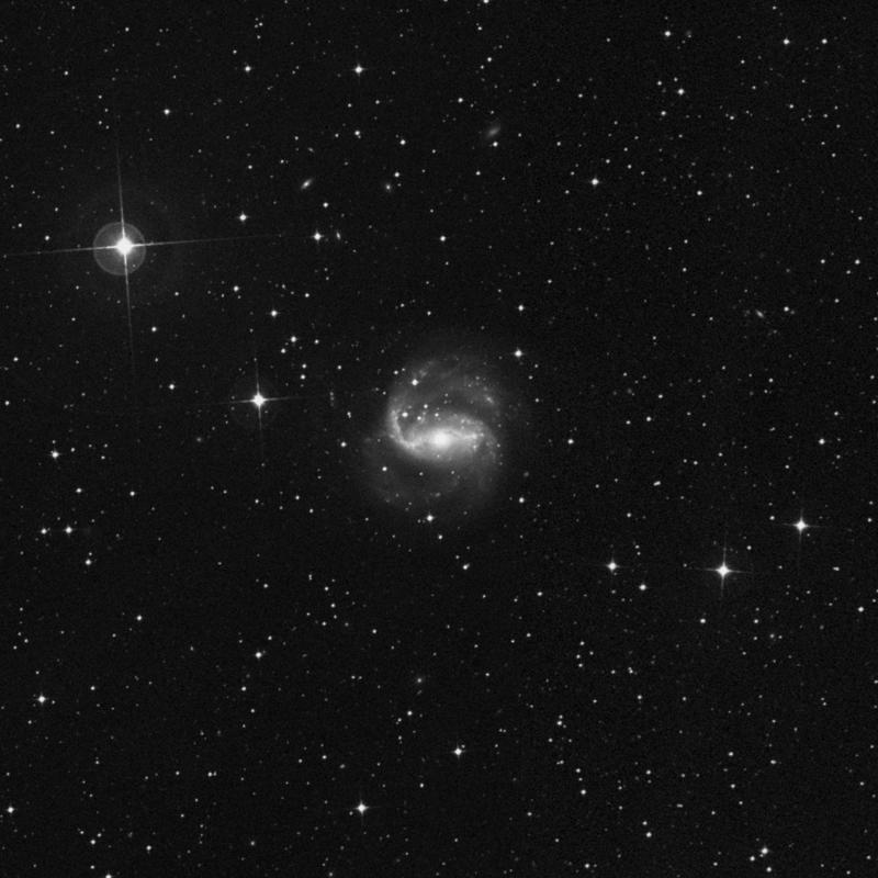 Image of NGC 1672 - Spiral Galaxy in Dorado star