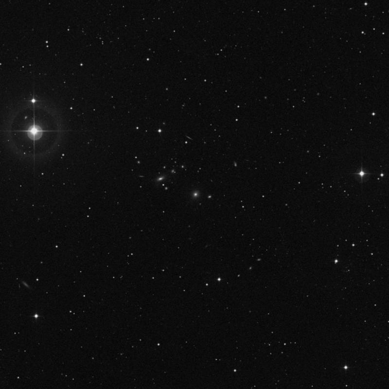 Image of IC 815 - Elliptical Galaxy in Virgo star