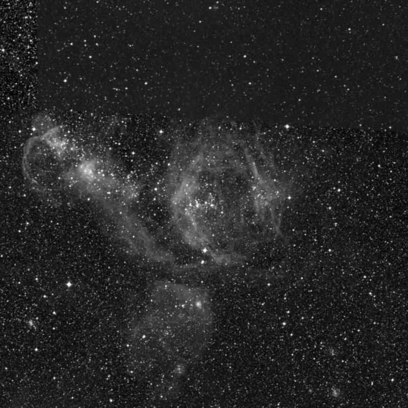Image of NGC 1955 - HII Ionized region in Dorado star