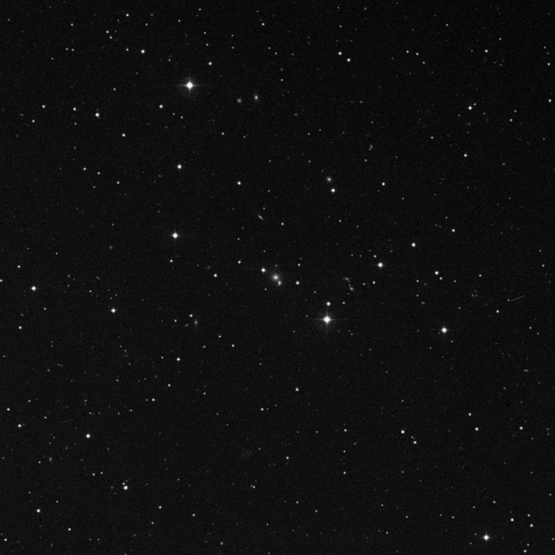 Image of NGC 3186 - Elliptical Galaxy in Leo star