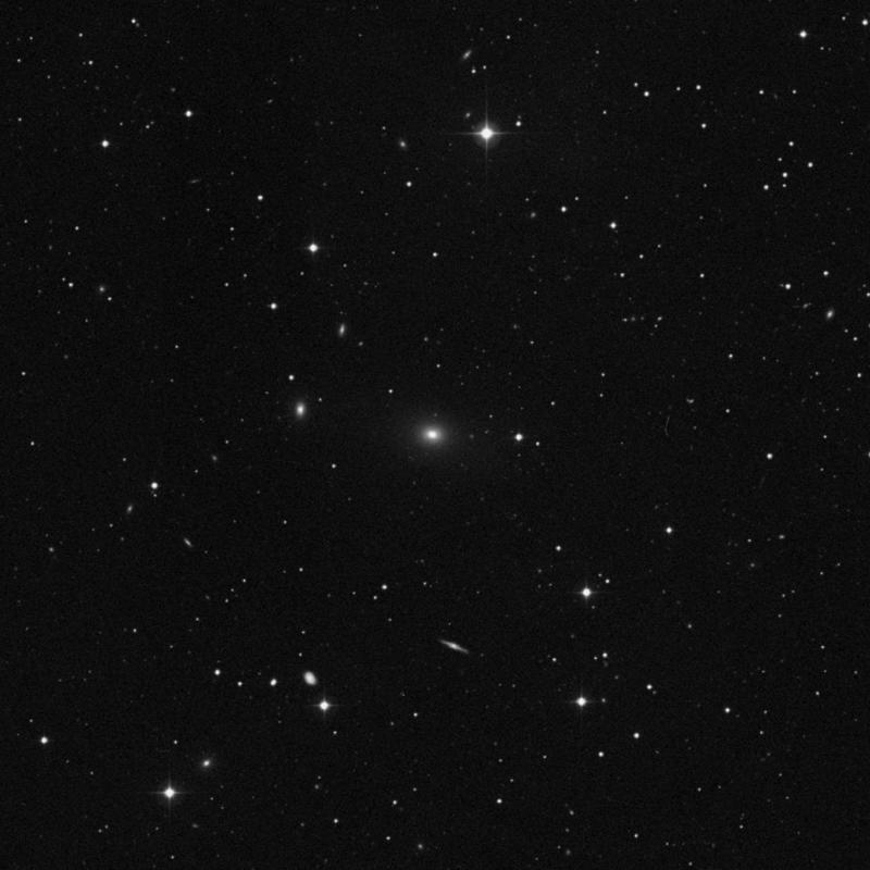 Image of NGC 3209 - Elliptical Galaxy in Leo star