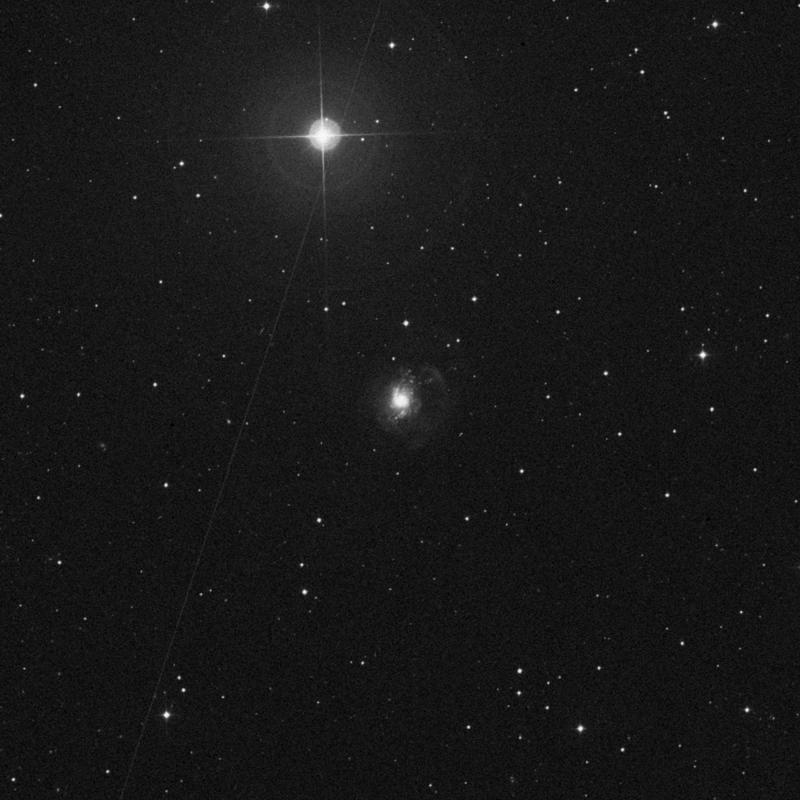 Image of NGC 3310 - Intermediate Spiral Galaxy in Ursa Major star