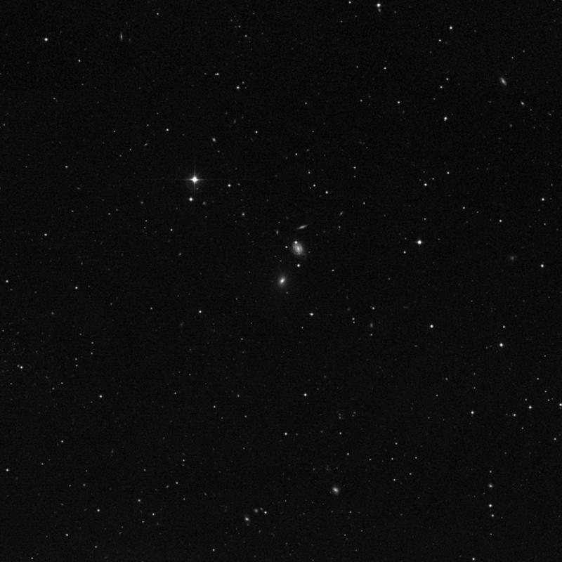 Image of NGC 3474 - Elliptical Galaxy in Leo star