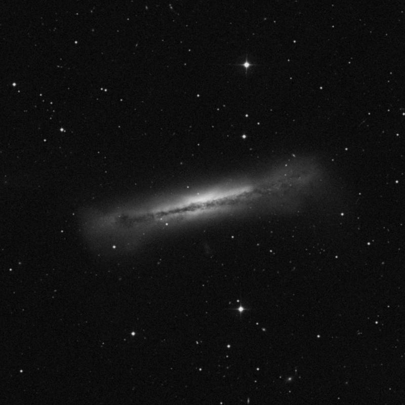 Image of NGC 3628 - Barred Spiral Galaxy in Leo star