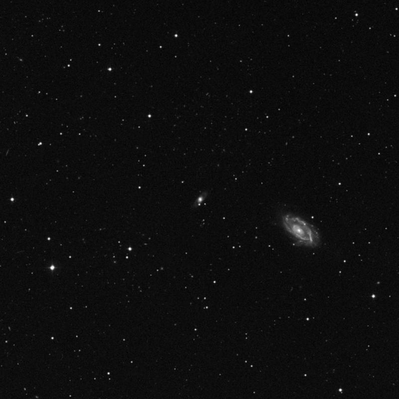 Image of NGC 3649 - Barred Spiral Galaxy in Leo star