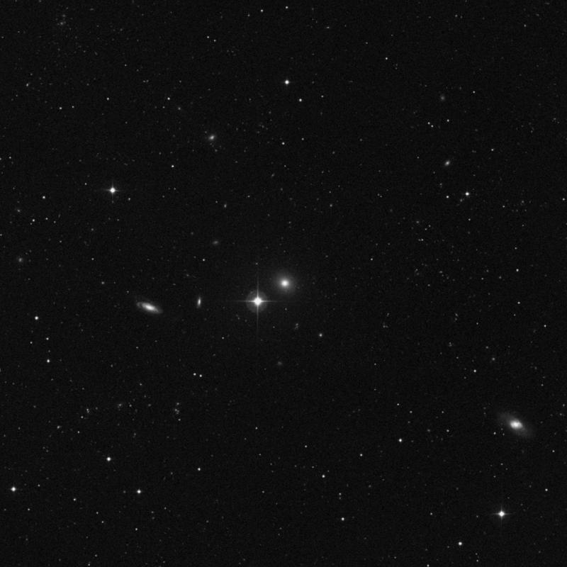 Image of NGC 3812 - Elliptical Galaxy in Leo star