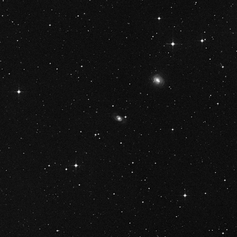 Image of NGC 3858 - Barred Spiral Galaxy in Crater star