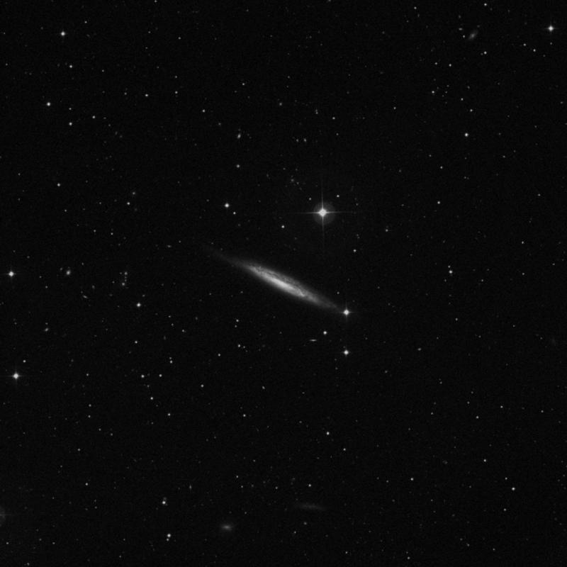 Image of NGC 4157 - Intermediate Spiral Galaxy in Canes Venatici star