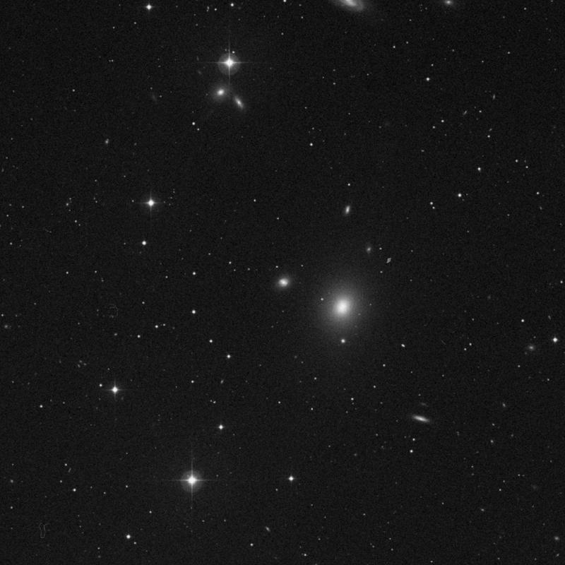 Image of NGC 4264 - Lenticular Galaxy in Virgo star