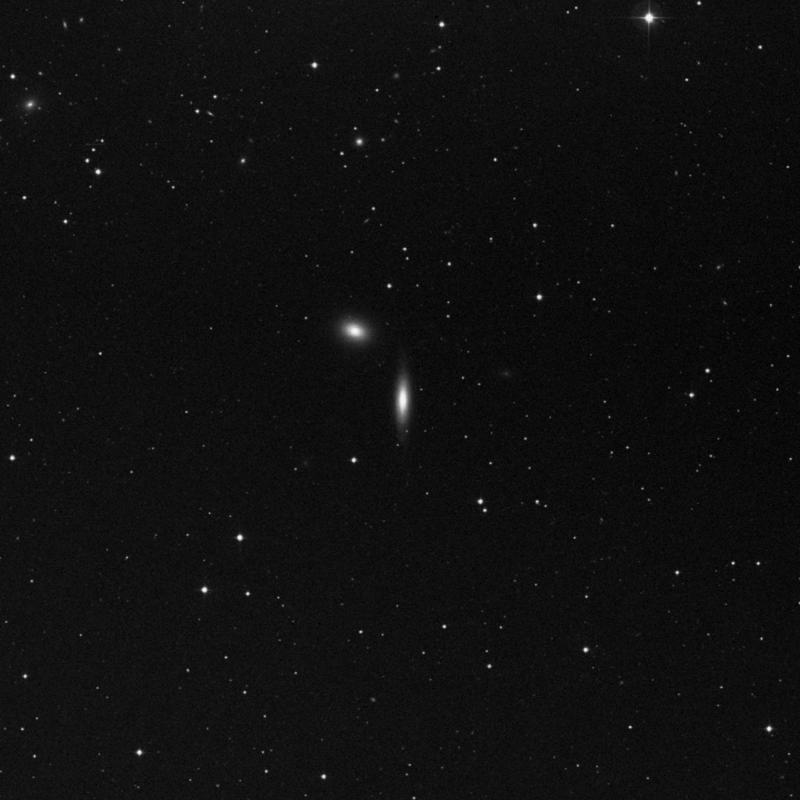Image of NGC 4550 - Lenticular Galaxy in Virgo star