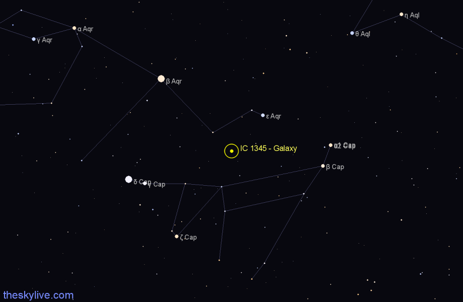 Finder chart IC 1345 - Galaxy star