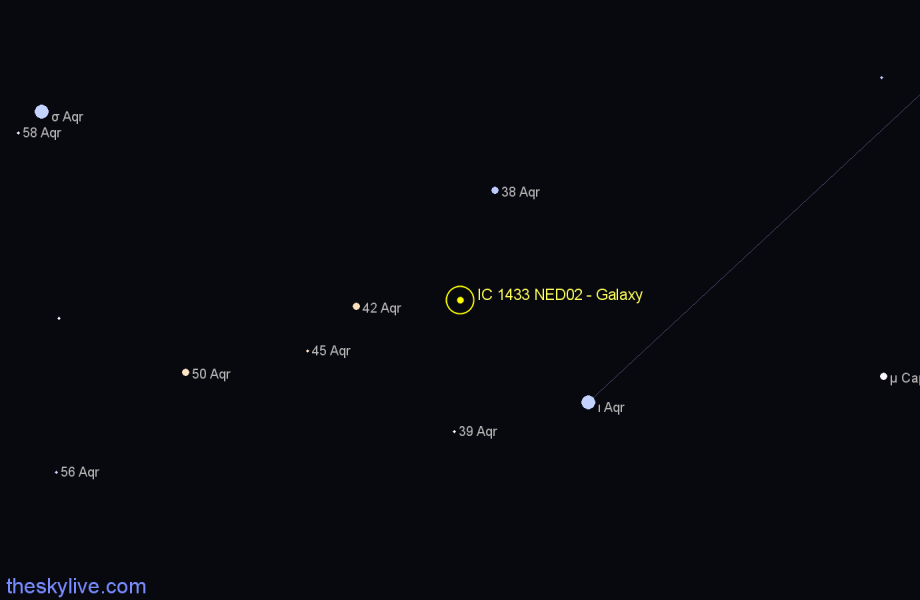 Finder chart IC 1433 NED02 - Galaxy star