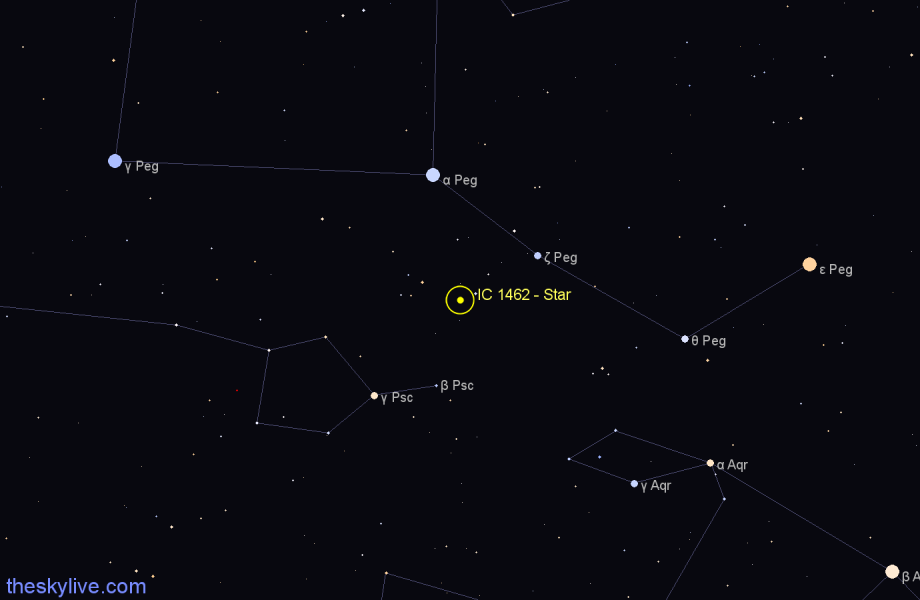 Finder chart IC 1462 - Star in Pegasus star