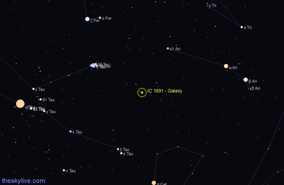 Finder chart IC 1891 - Galaxy star