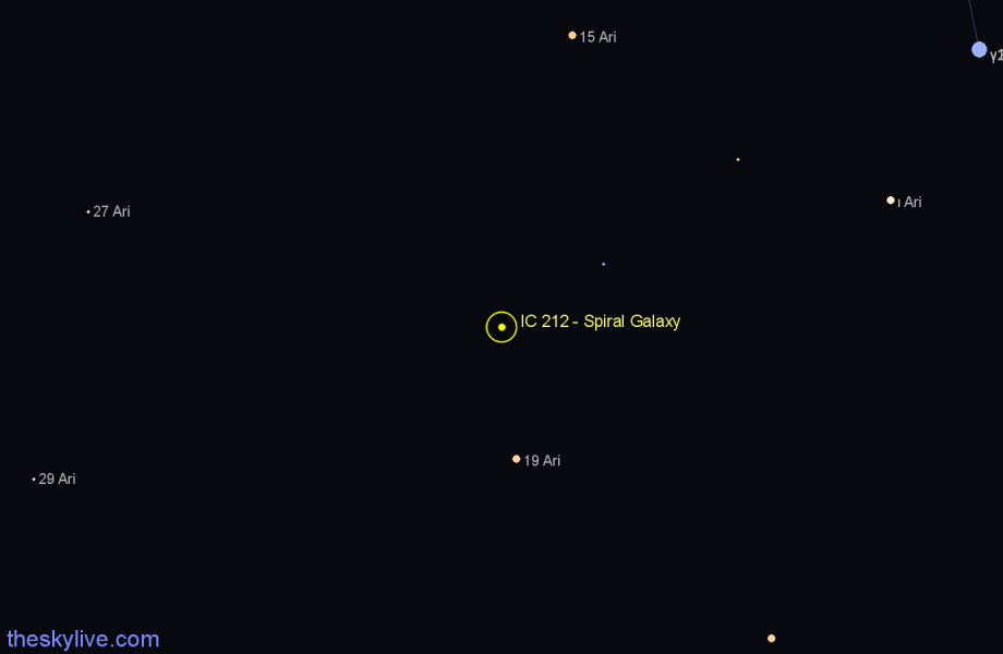 Finder chart IC 212 - Spiral Galaxy star