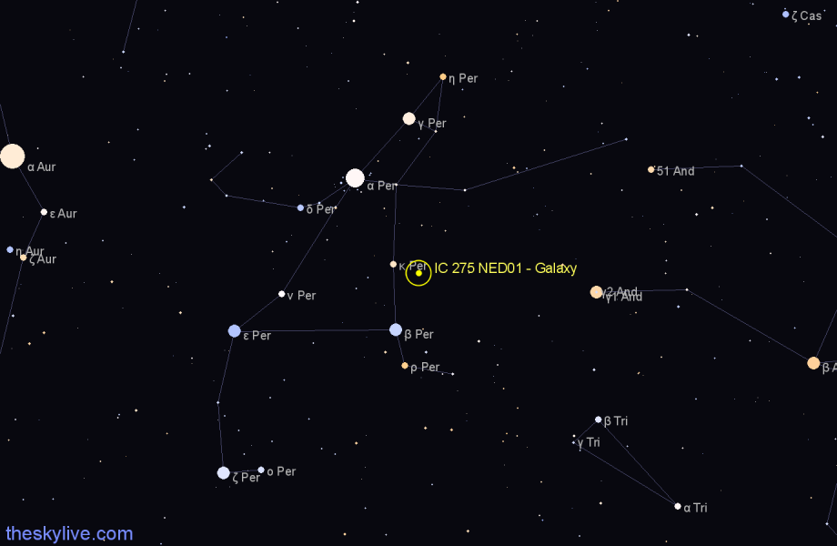 Finder chart IC 275 NED01 - Galaxy star