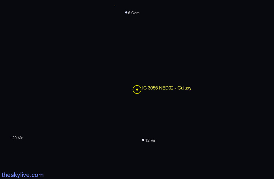 Finder chart IC 3055 NED02 - Galaxy star