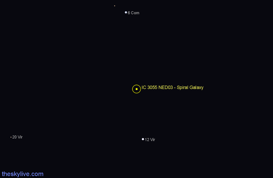 Finder chart IC 3055 NED03 - Spiral Galaxy star