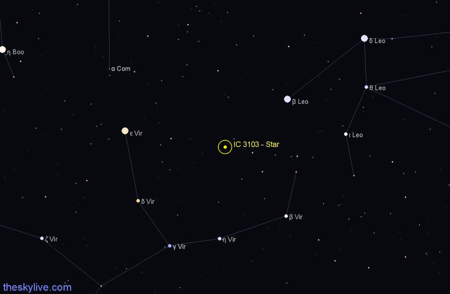 Finder chart IC 3103 - Star star
