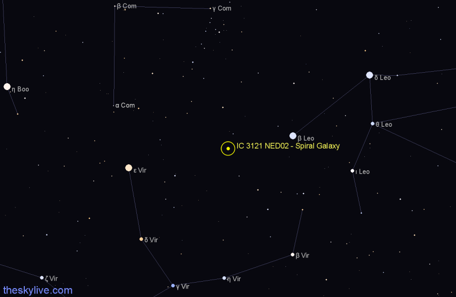 Finder chart IC 3121 NED02 - Spiral Galaxy star