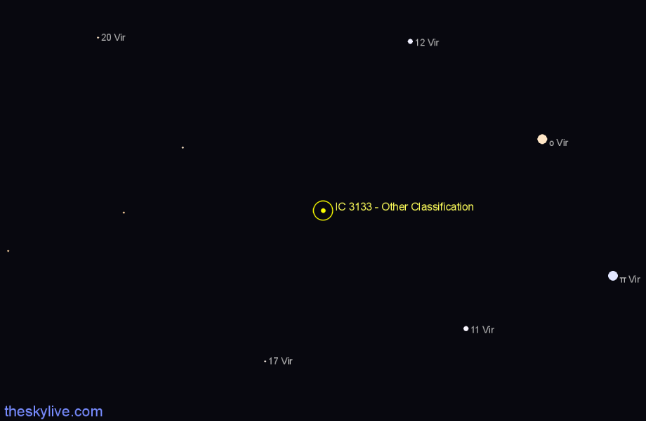Finder chart IC 3133 - Other Classification star