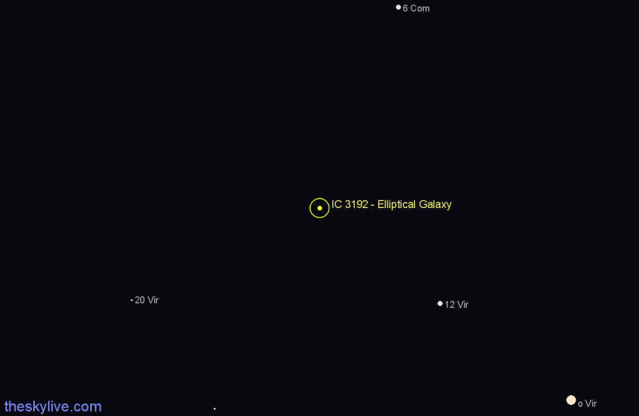 Finder chart IC 3192 - Elliptical Galaxy star