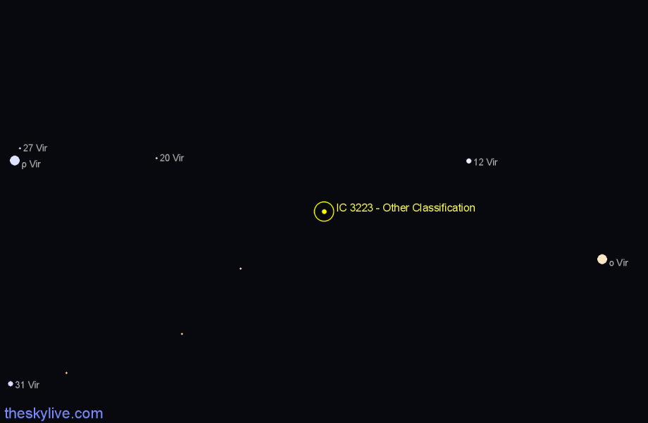 Finder chart IC 3223 - Other Classification star