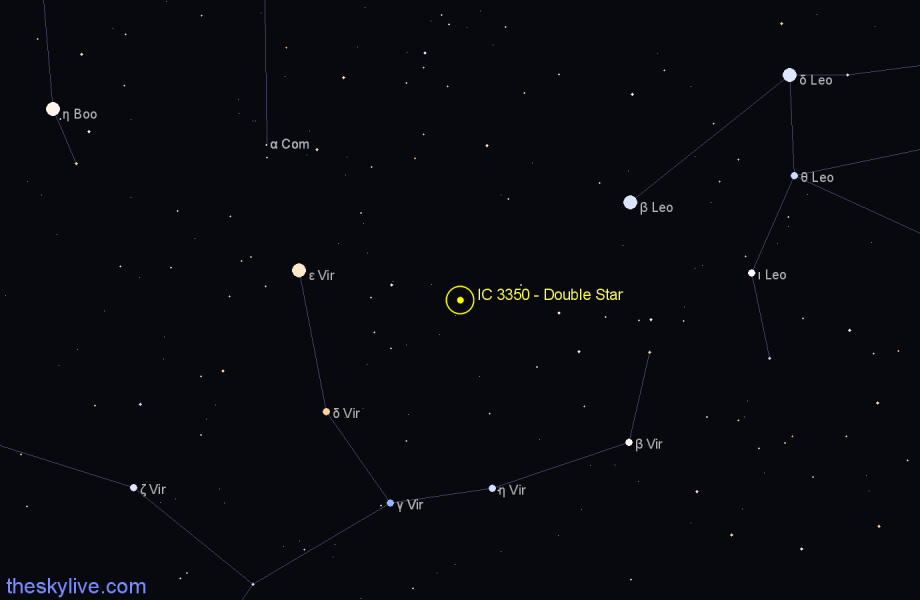 Finder chart IC 3350 - Double Star star