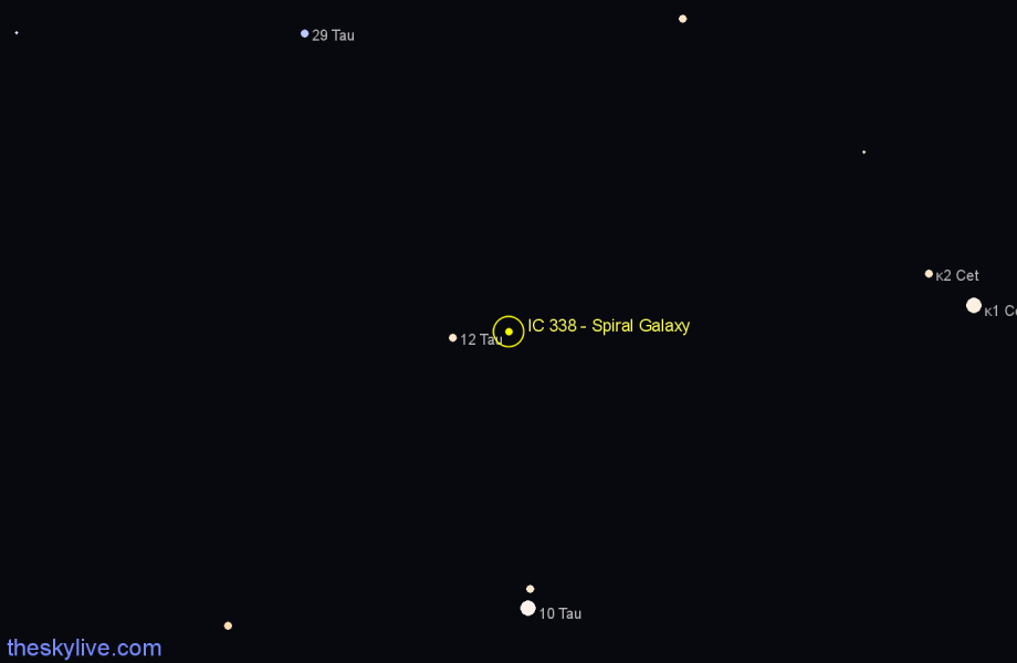 Finder chart IC 338 - Spiral Galaxy star